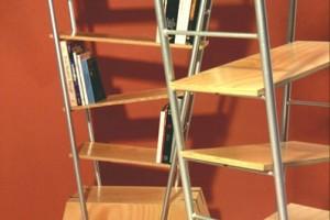 Trapeze bookshelf