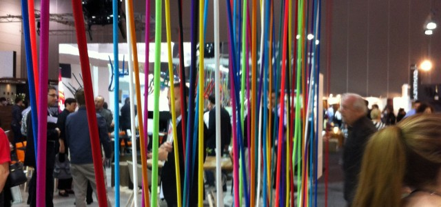 Detail of Dulux stand at Designex 2013