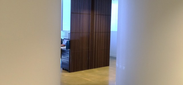 Land & Water office curved walls