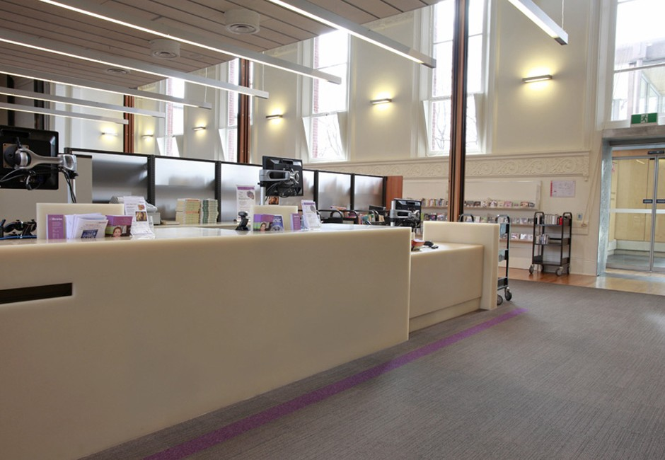 St Peters - library, circulation desk