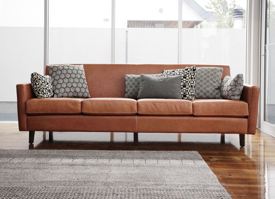 villa - living room custom furniture 4 seat sofa - koush - unley