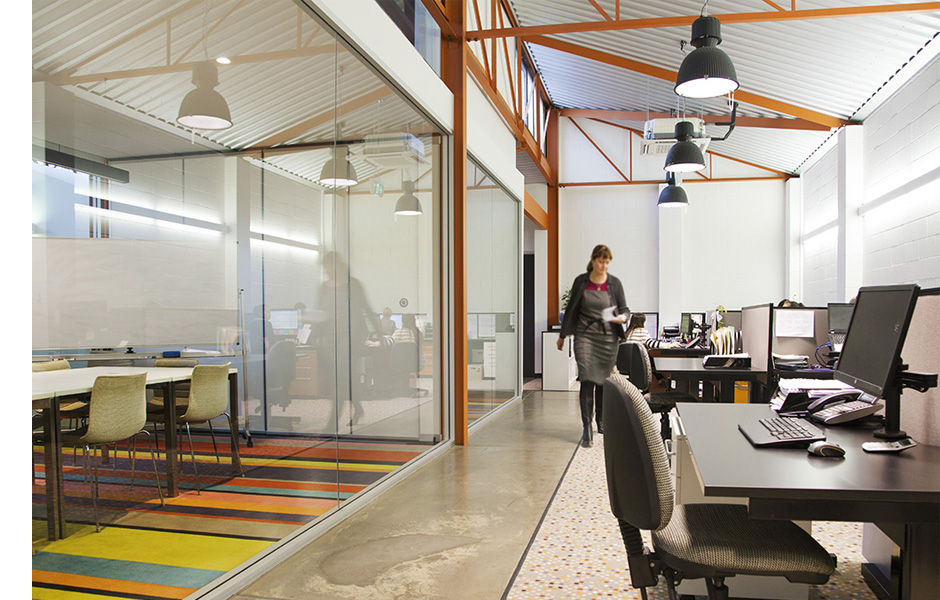 wellness and lifestyles - warehouse office work stations meeting room - koush - norwood