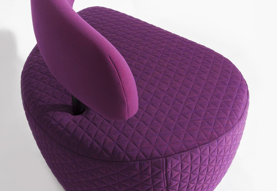 Contra chair, Koush, Custom upholstery, texture, quilting
